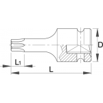 """Adaptor de IMPACT cu profil TX exterior 1/2"""" 231/4ATX 612874"""